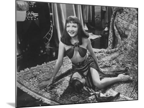 """Claudette Colbert in Title Role of Cecil B. DeMille's Film """"Cleopatra.""""--Mounted Premium Photographic Print"""