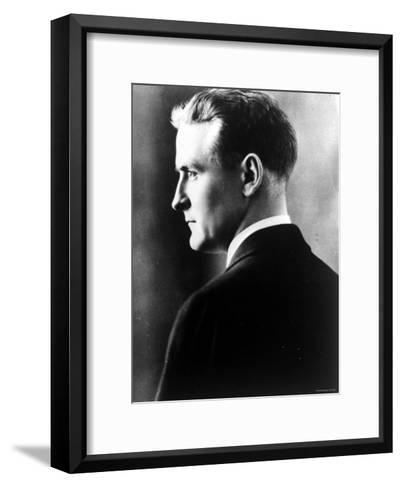 American Novelist Francis Scott Key Fitzgerald--Framed Art Print