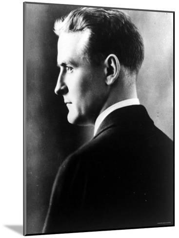 American Novelist Francis Scott Key Fitzgerald--Mounted Premium Photographic Print