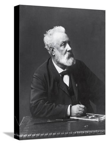 Copy from Carte de Visite of French Writer and Futurist Jules Verne--Stretched Canvas Print