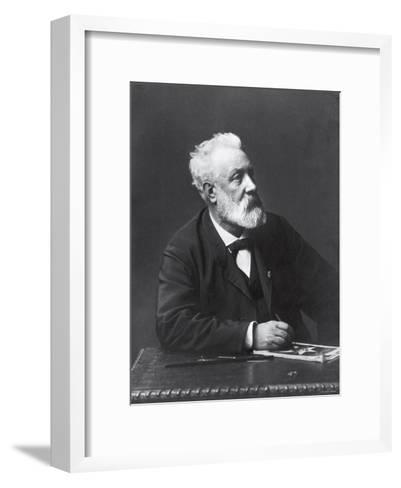 Copy from Carte de Visite of French Writer and Futurist Jules Verne--Framed Art Print