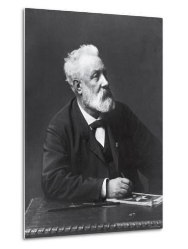 Copy from Carte de Visite of French Writer and Futurist Jules Verne--Metal Print