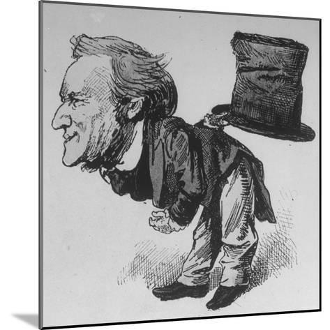 Caricature of German Composer and Poet Richard Wagner Taking Curtain Call in Leipzig--Mounted Photographic Print