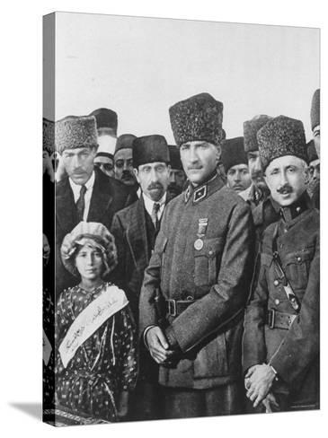 Turkish Leader Mustafa Kemal Ataturk--Stretched Canvas Print