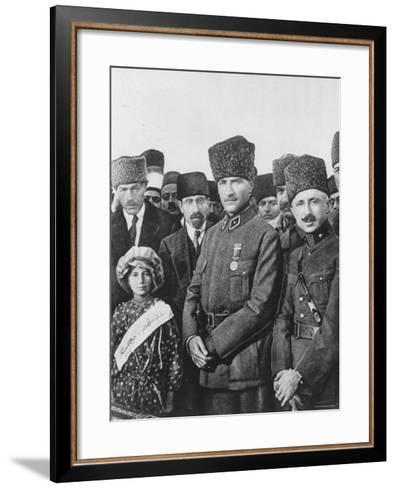Turkish Leader Mustafa Kemal Ataturk--Framed Art Print