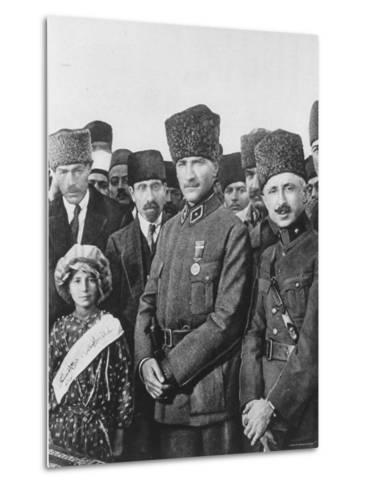 Turkish Leader Mustafa Kemal Ataturk--Metal Print