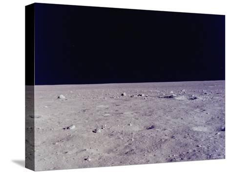 Surface of Moon as Seen from Window of Apollo 11 Lunar Module--Stretched Canvas Print