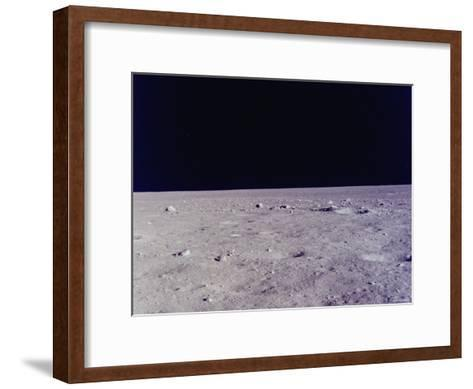 Surface of Moon as Seen from Window of Apollo 11 Lunar Module--Framed Art Print