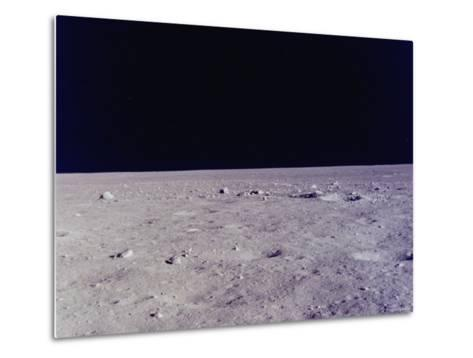Surface of Moon as Seen from Window of Apollo 11 Lunar Module--Metal Print