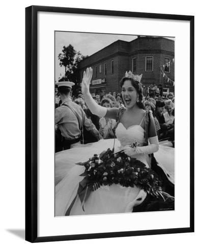 Miss America, Mary Ann Mobley Returning to Her Home Town-Grey Villet-Framed Art Print