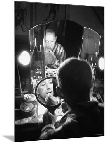 Alec Guiness Putting on His Make Up in Dressing Room at the Stratford Shakespeare Festival-Peter Stackpole-Mounted Premium Photographic Print