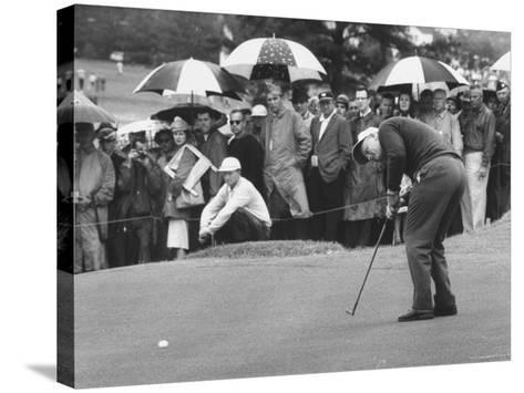 Jack Nicklaus During the Master Golf Tournament-George Silk-Stretched Canvas Print
