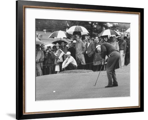 Jack Nicklaus During the Master Golf Tournament-George Silk-Framed Art Print