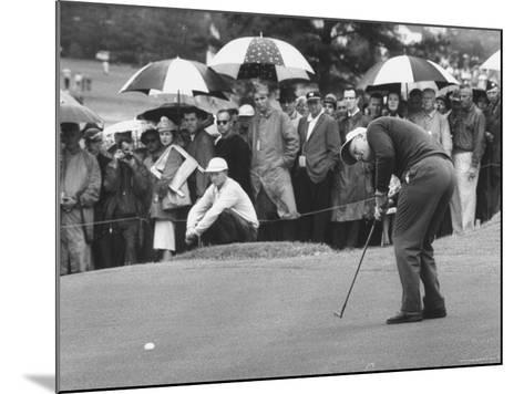 Jack Nicklaus During the Master Golf Tournament-George Silk-Mounted Premium Photographic Print