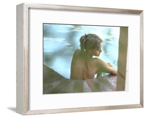 Peggy Lipton in Her Pool-Charles Moore-Framed Art Print