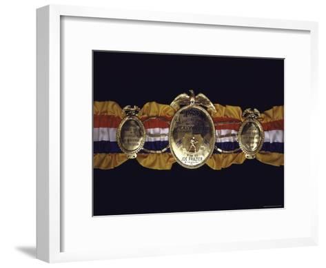 "Boxing Champ Joe Frazier's ""The Ping Magazine Award World Heavyweight Championship"" Medal-John Shearer-Framed Art Print"