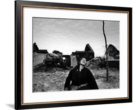 Ruins of Village Near Pengpu Destroyed by Nationalists and Communists Forces in Chinese Civil War-Carl Mydans-Framed Art Print
