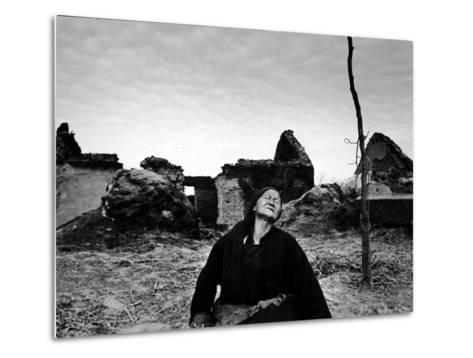 Ruins of Village Near Pengpu Destroyed by Nationalists and Communists Forces in Chinese Civil War-Carl Mydans-Metal Print