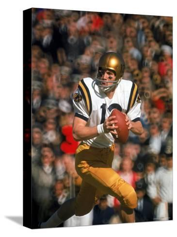 Navy QB Roger Staubach in Action Against University of Texas at the Cotton Bowl-George Silk-Stretched Canvas Print