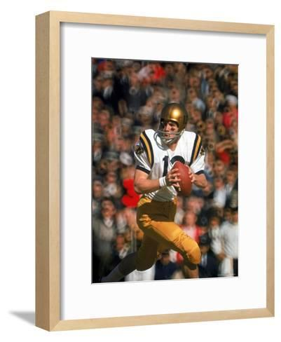 Navy QB Roger Staubach in Action Against University of Texas at the Cotton Bowl-George Silk-Framed Art Print