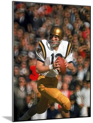 Navy QB Roger Staubach in Action Against University of Texas at the Cotton Bowl-George Silk-Mounted Premium Photographic Print