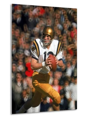 Navy QB Roger Staubach in Action Against University of Texas at the Cotton Bowl-George Silk-Metal Print