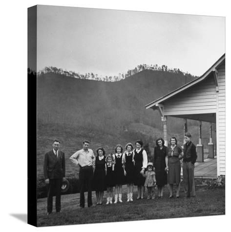 Legendary Country Western Music Carter Family: A.P. and Ezra with Family-Eric Schaal-Stretched Canvas Print