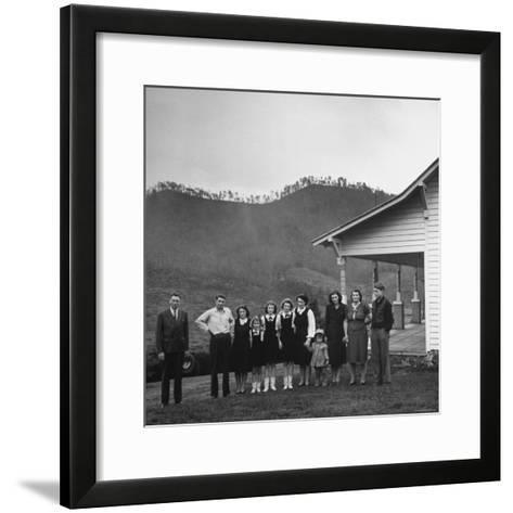 Legendary Country Western Music Carter Family: A.P. and Ezra with Family-Eric Schaal-Framed Art Print