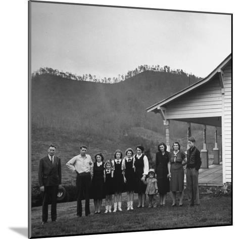 Legendary Country Western Music Carter Family: A.P. and Ezra with Family-Eric Schaal-Mounted Premium Photographic Print