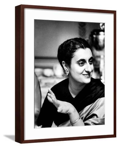 Daughter of Indian Pm Jawaharlal Nehru, Indira Gandhi, During Visit with Father to Us and Canada-Carl Mydans-Framed Art Print