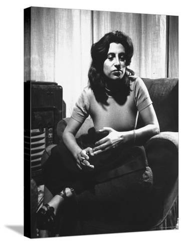 Anna Magnani in Her Rome Apartment-Gjon Mili-Stretched Canvas Print