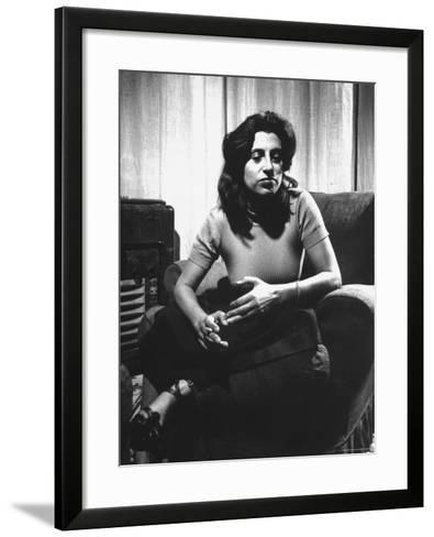 Anna Magnani in Her Rome Apartment-Gjon Mili-Framed Art Print