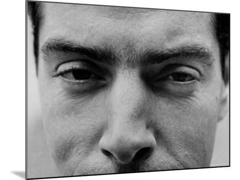 """Close Up of """"Yankee Clipper"""" Joe DiMaggio's Eyes and Nose-Ralph Morse-Mounted Premium Photographic Print"""