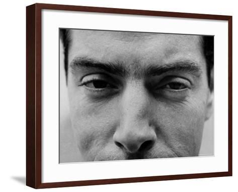 """Close Up of """"Yankee Clipper"""" Joe DiMaggio's Eyes and Nose-Ralph Morse-Framed Art Print"""