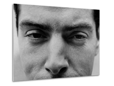 """Close Up of """"Yankee Clipper"""" Joe DiMaggio's Eyes and Nose-Ralph Morse-Metal Print"""