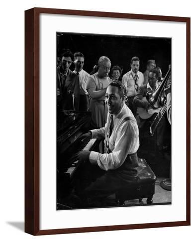 Duke Ellington Playing Don't Get Around Much Anymore-Gjon Mili-Framed Art Print