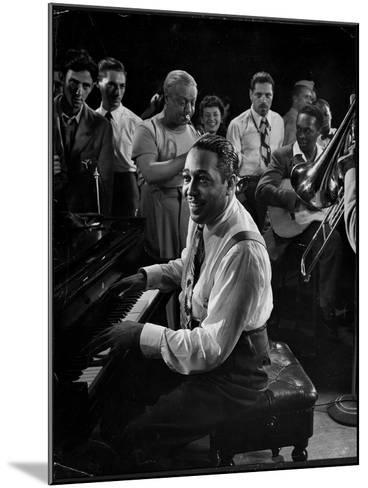 Duke Ellington Playing Don't Get Around Much Anymore-Gjon Mili-Mounted Premium Photographic Print