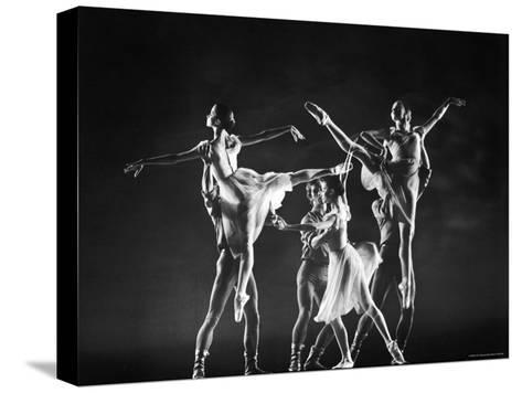 Antony Blum and Kay Mazzo in New York City Ballet Production of Dances at a Gathering-Gjon Mili-Stretched Canvas Print