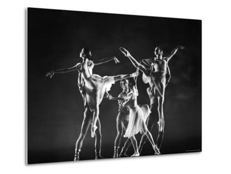Antony Blum and Kay Mazzo in New York City Ballet Production of Dances at a Gathering-Gjon Mili-Metal Print