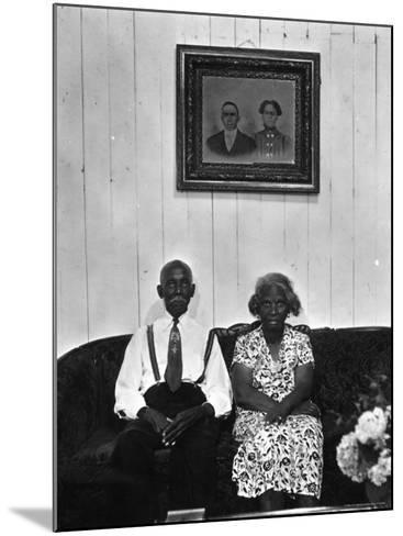 Mr. and Mrs. Albert Thornton, Sr. the Son of a Slave, a Sharecropper and Independent Farmer-Gordon Parks-Mounted Photographic Print