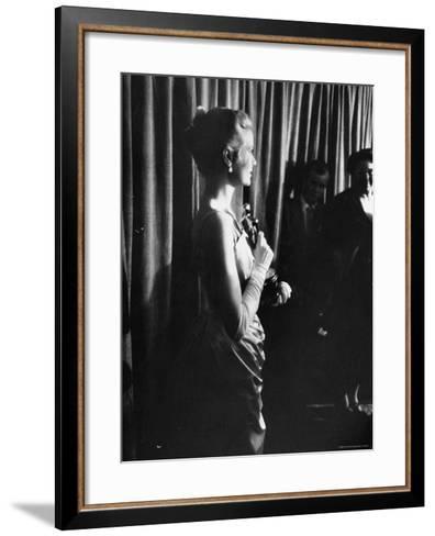 Grace Kelly Holding Her Oscar-George Silk-Framed Art Print