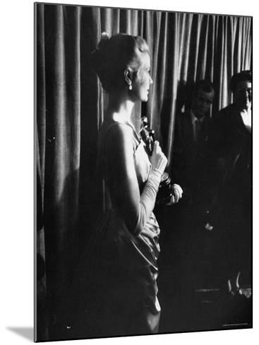 Grace Kelly Holding Her Oscar-George Silk-Mounted Premium Photographic Print
