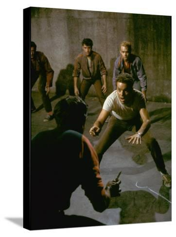 Knife Fight Scene from West Side Story-Gjon Mili-Stretched Canvas Print
