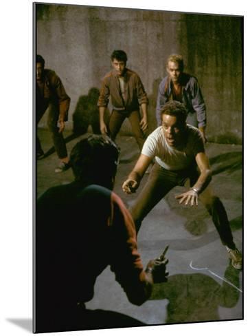 Knife Fight Scene from West Side Story-Gjon Mili-Mounted Premium Photographic Print