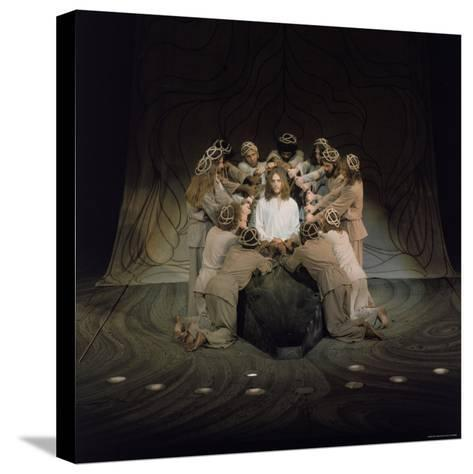 Jesus Surrounded by His Disciples in a Scene from Jesus Christ Superstar-John Olson-Stretched Canvas Print