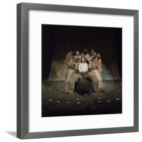 Jesus Surrounded by His Disciples in a Scene from Jesus Christ Superstar-John Olson-Framed Art Print