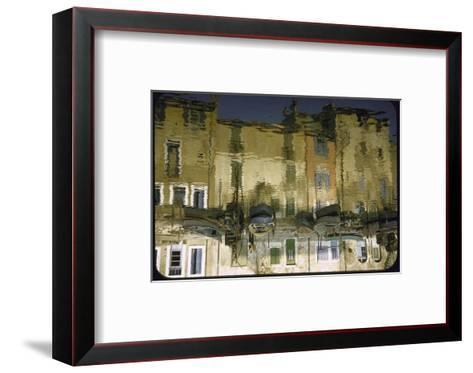 Painter is Reflected in River or Canal at Martigues, a Mediterranean Fishing Village-Walter Sanders-Framed Art Print