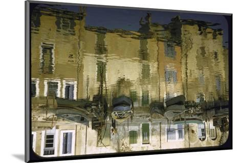 Painter is Reflected in River or Canal at Martigues, a Mediterranean Fishing Village-Walter Sanders-Mounted Photographic Print