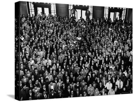MIT Graduating Class of 1956-Gjon Mili-Stretched Canvas Print
