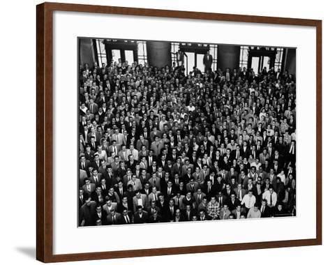 MIT Graduating Class of 1956-Gjon Mili-Framed Art Print
